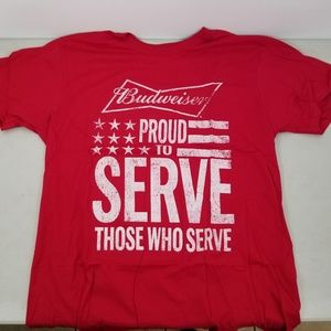 BUDWEISER PROUD To SERVE THOSE Who SERVED Sz Large